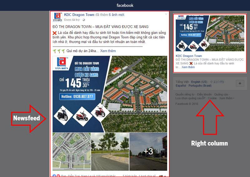 quảng cáo post facebook ngành bất động sản